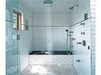 Small Bathroom Ideas: Black and white small bathroom with ...