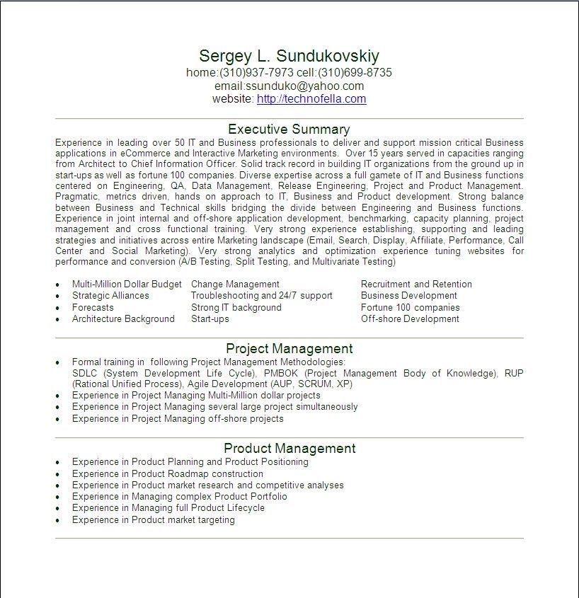 resume heading samples