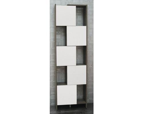 Hochschrank Savana weiß\/grau mit variabler Breite bei HORNBACH - badezimmer hochschrank 50 cm breit