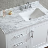 Ace 42 inch Single Sink White Bathroom Vanity With Mirror ...