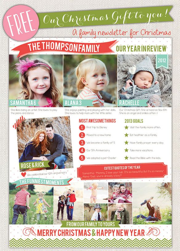 17+ Christmas Newsletter Templates u2013 Free PSD, EPS, Ai, Word - newsletter templates free for word