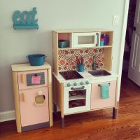 IKEA DUKTIG Play kitchen hack | Viv's Bedroom | Pinterest ...