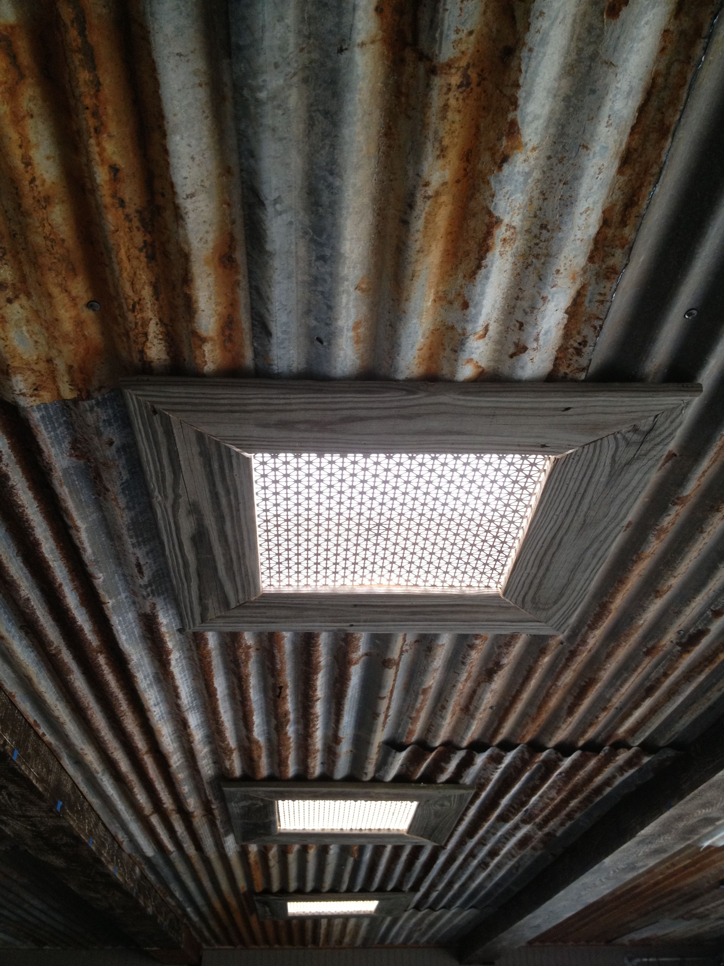Rustic Ceiling Rustic Tin Ceiling And Skylights Interested In This