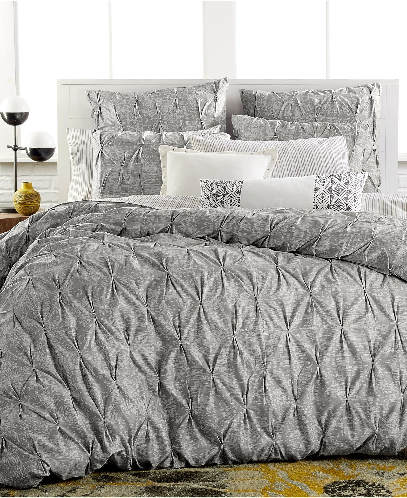 Comforter Cover Full Bar Iii Diamond Pleat Full Queen Duvet Cover Bedding