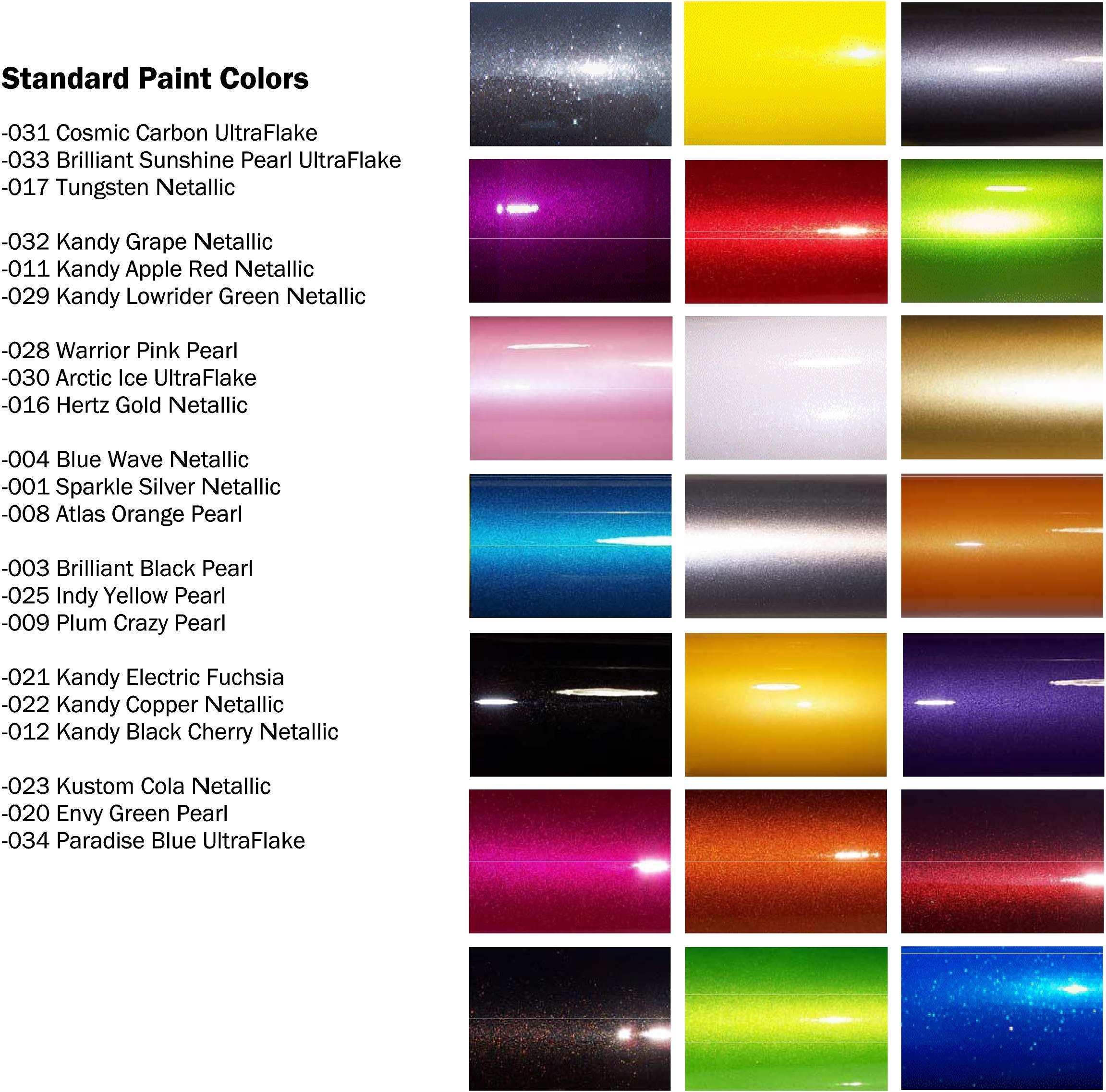 Automotive paint colors more