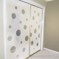 closet door alternatives | Mirrored closet doors decorated ...