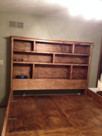 Solid wood king sized Captain's Bed with Full Bookshelf ...