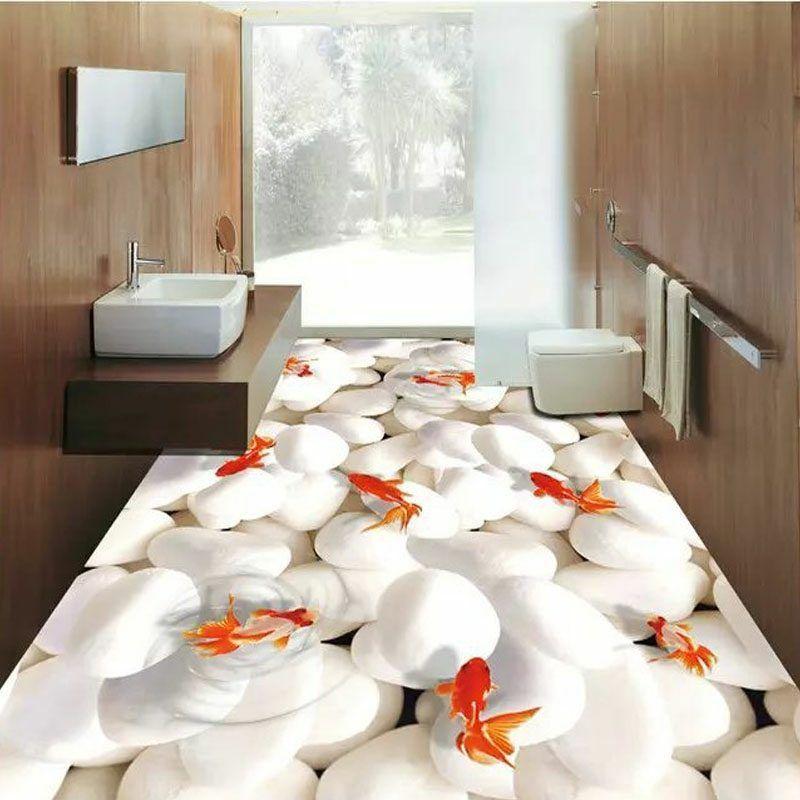 3D Fliesen - Ideen für das Badezimmer - Badezimmer, Bodenbeläge - badezimmer egal wo