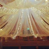 Elegant Tulle and Light Ceiling Drape Kit | Wedding ...