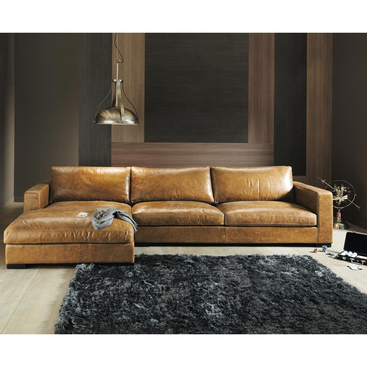 Braunes Sofa Vintage Brown Leather Sectional Corner Sofa Seats 3 4