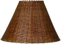 Springcrest Natural Rattan Lamp Shade 7x17x12 (Spider ...