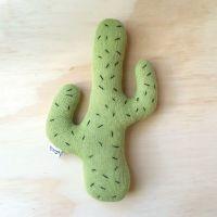 Knitted Cactus Cushion - Lime (Medium) | Cacti