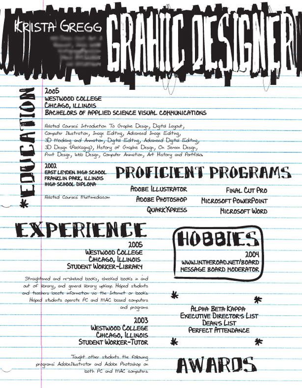 30 Artistic and Creative Résumés Graphic design resume, Design - resume graphic designer