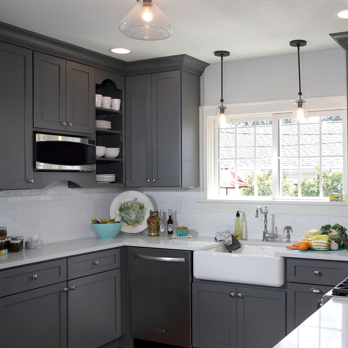 Grey Kitchen Paint This Gorgeous Light French Gray Sw 0055 Kitchen Has Us