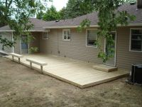 small ground-level decks | Here's a ground level deck with ...