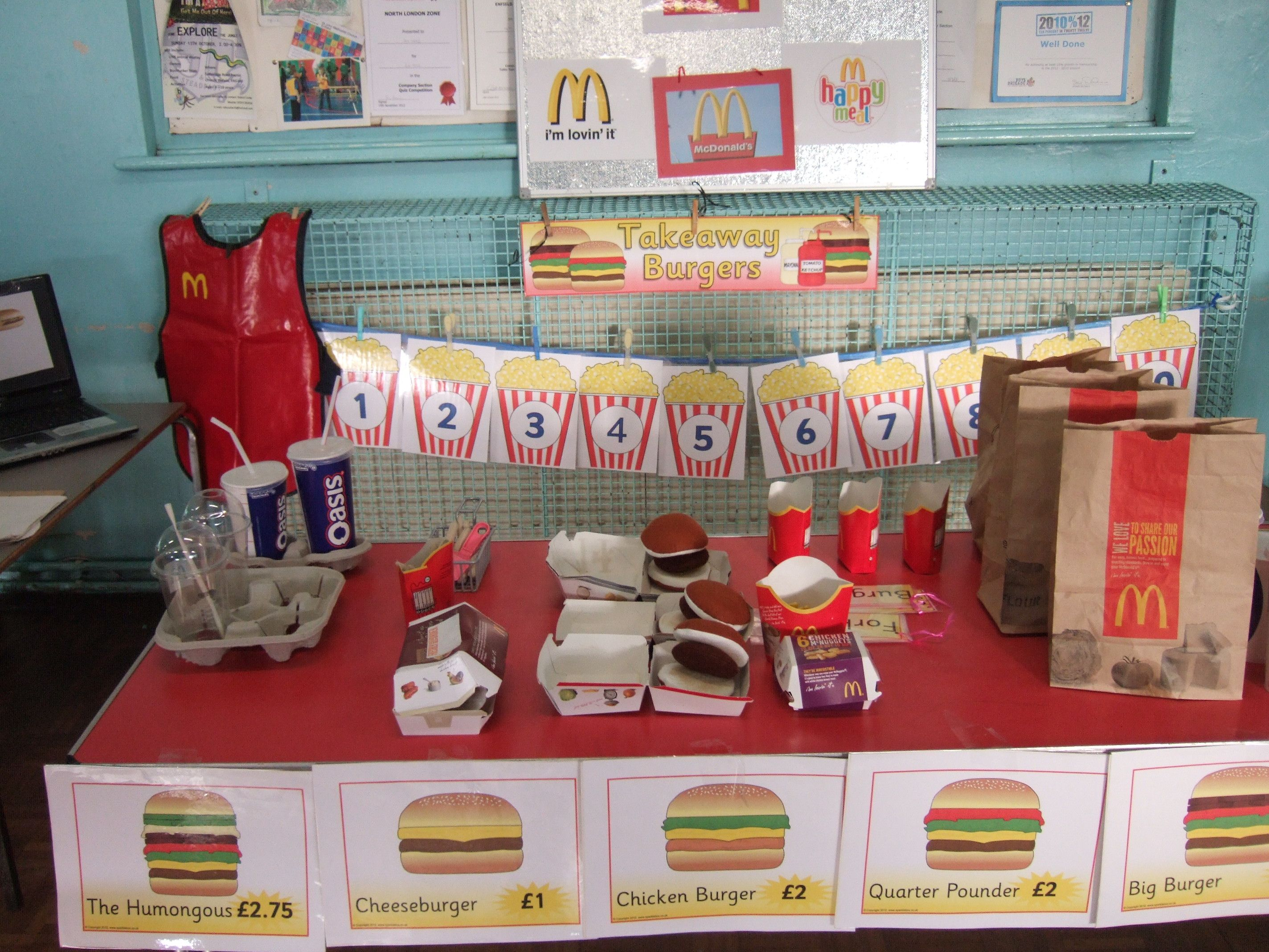 Mcdonalds Kitchen Equipment List Mcdonalds Take Away Our Role Play Areas Pinterest
