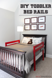 DIY Toddler Bed Rail   Toddler bed rails, Diy toddler bed ...