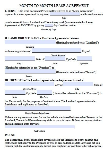 Free Rental Agreement Template Real Estate Forms Legal Forms - printable rental agreements