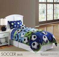 Hallmart Kids Soccer Blue Comforter Set|Boys Soccer ...