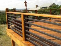 Horizontal Steel Deck Railing | Deck | Pinterest | Steel ...