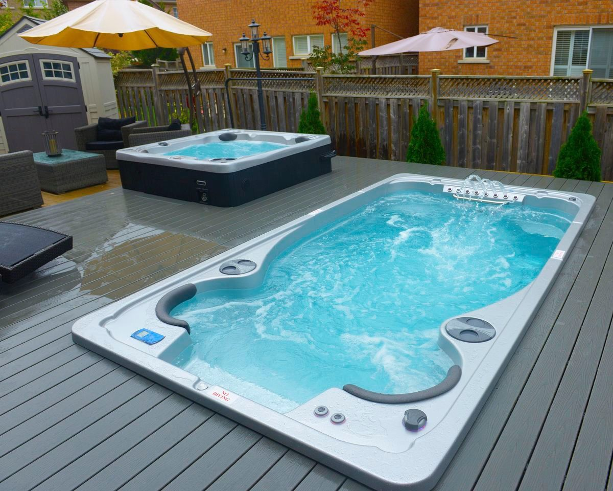 Jacuzzi Pool Hot Tub Hydropool 17fx Swim Spa With Hydropool Serenity 6000 Hot