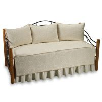 Vallejo Quilted Daybed Set, 100% Cotton - Ivory - Bed Bath ...