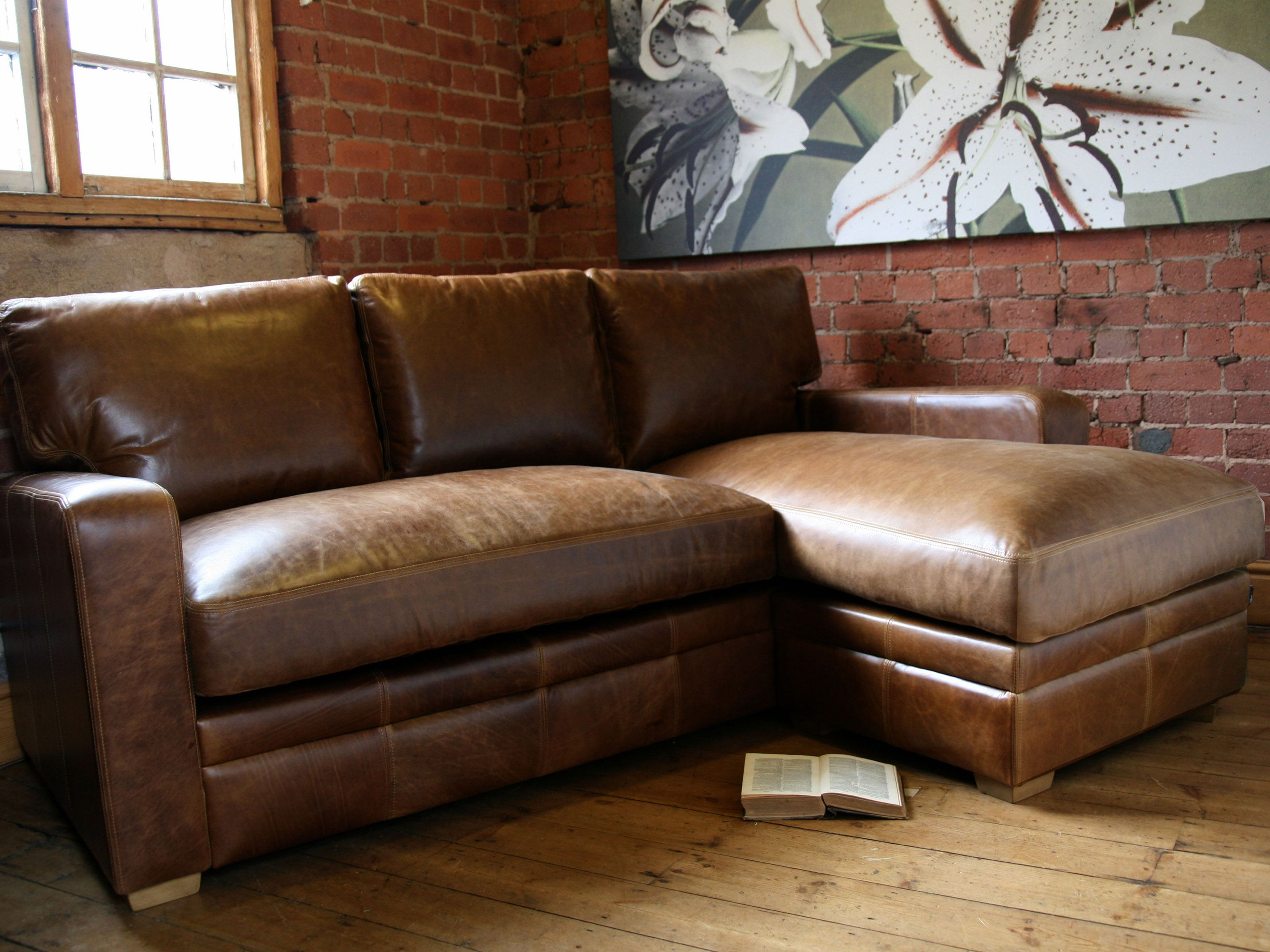 Leather Sofa With Chaise Chaise Leather Sofa Dekalb Leather 2 Piece Chaise