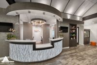Curved and Open Reception Desk. Dental Office Design by ...