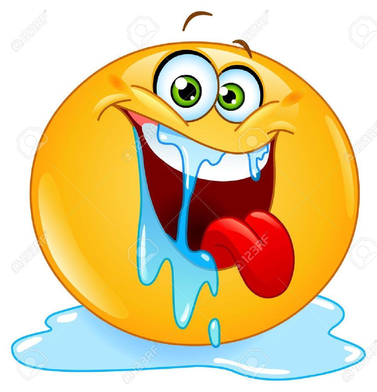 Emoticons Cute Wallpaper 12793109 Drooling Emoticon Stock Vector Smiley Face