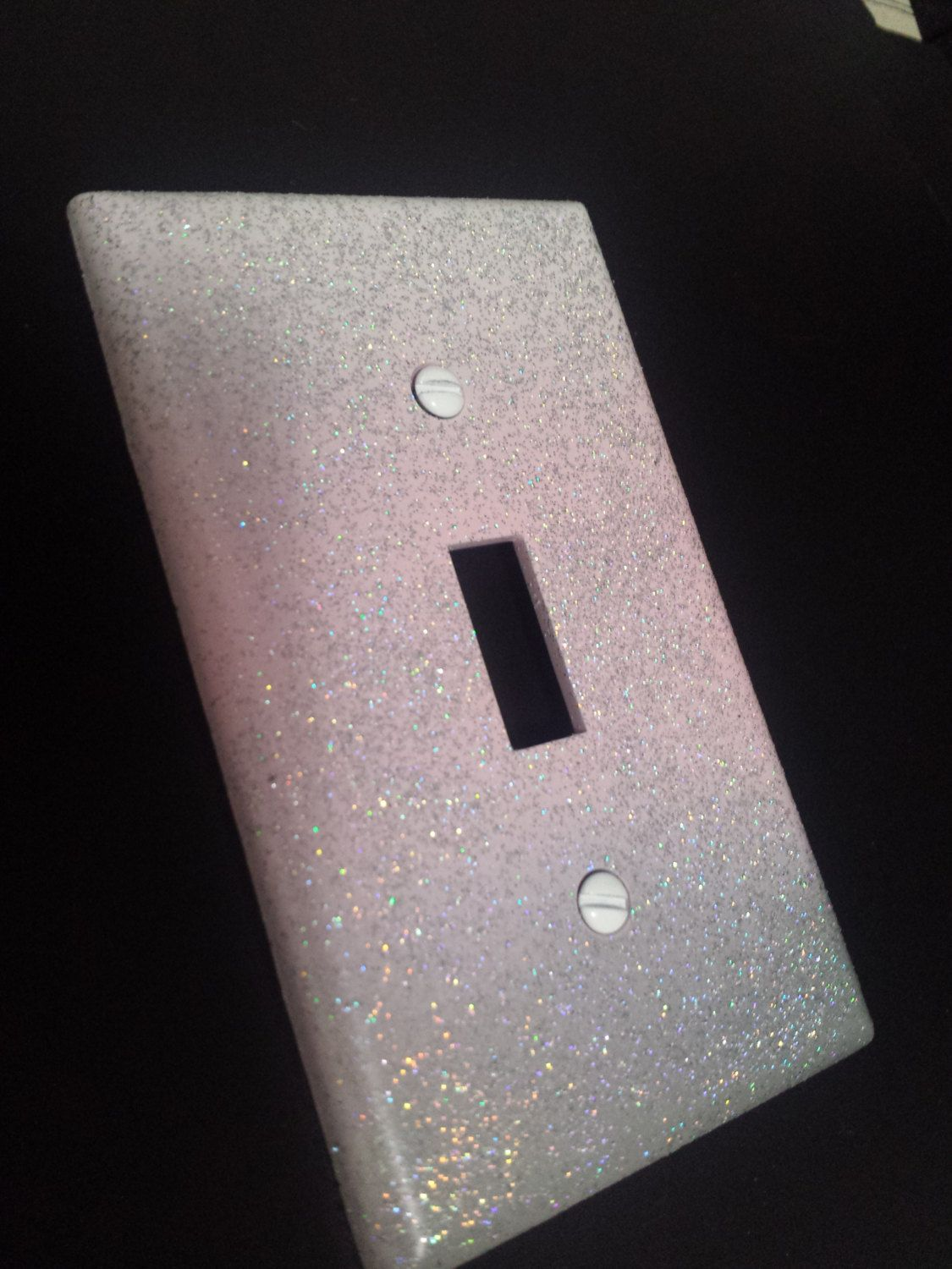 Unique Switchplates And Outlet Covers Sparkly Pink White Gray Ombre Style Glitter Light Switch