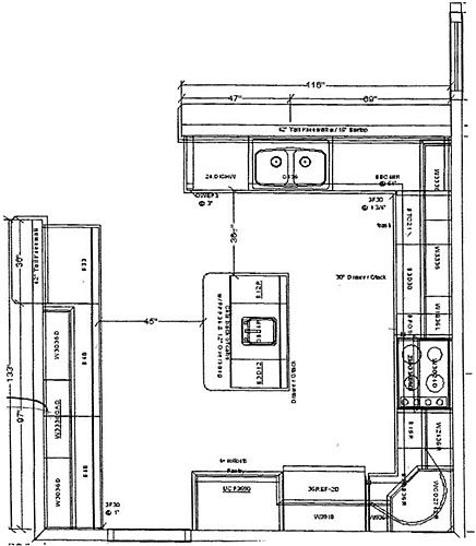 plans amp photos kitchens with islands floor kitchen island plan - kitchen design plans