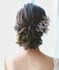 Beautiful low updo bridal hairstyle for romantic brides ...