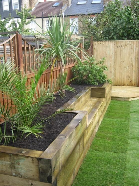 Built-In Planter Ideas Railway sleepers, Raised bed and Raising - raised bed garden designs