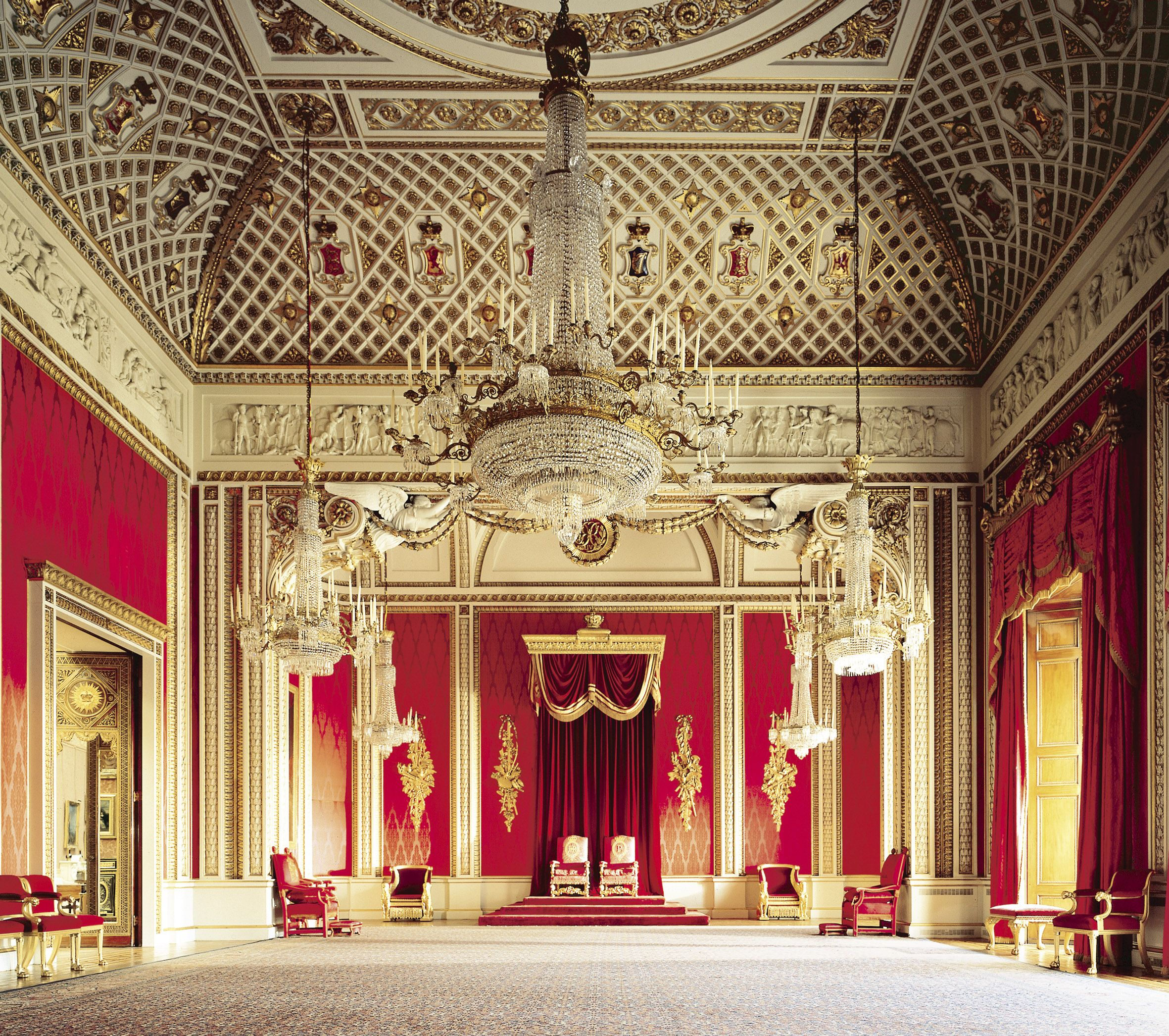 The throne room at buckingham palace this room was so magnificent and beautiful i