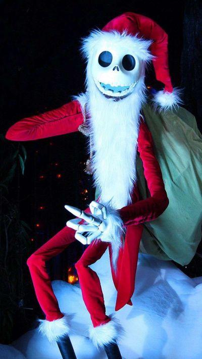 Santa Jack Skellington 2014 Halloween iPhone 6 Wallpapers - Nightmare Before Christmas #2014 # ...