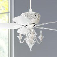 """44"""" Casa Deville Antique White Ceiling Fan with Light ..."""