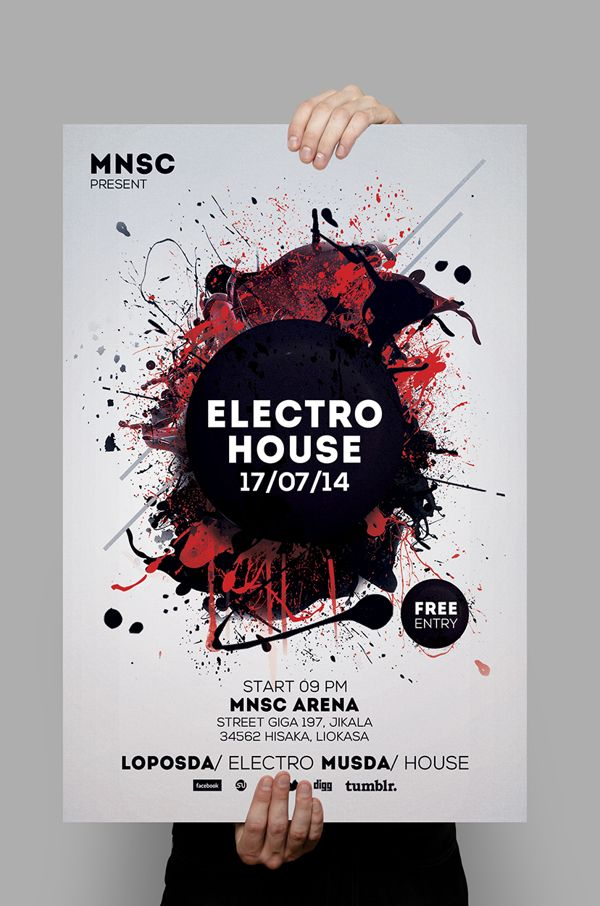 Flyer PSD Templates by graphicplan Poster Pinterest Psd - electro flyer