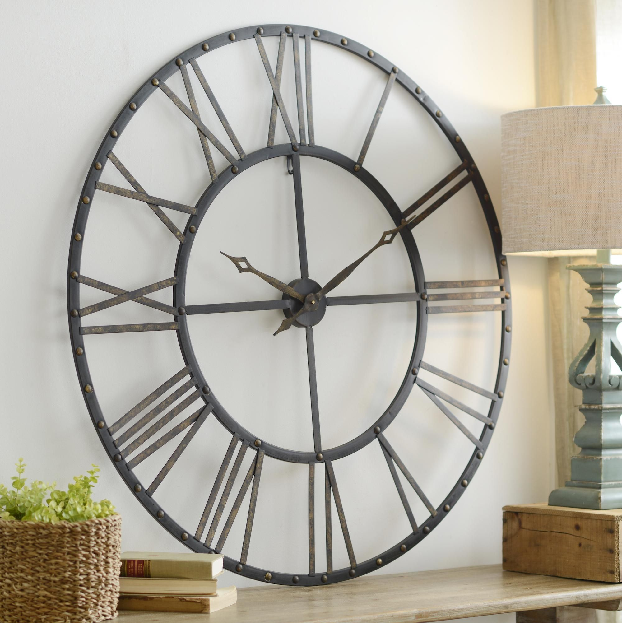 Giant Clock Decor Addison Open Face Clock Blank Walls Open Face And Clocks