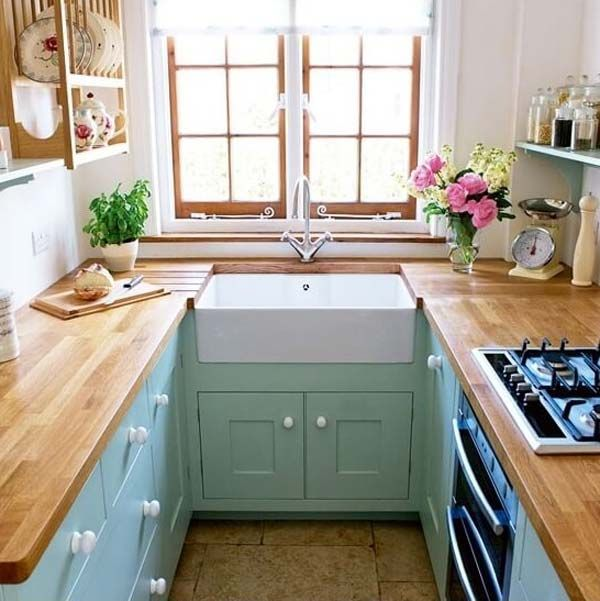 19 Practical U-Shaped Kitchen Designs for Small Spaces Narrow - u shaped kitchen design