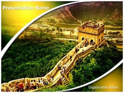Great Wall of China Powerpoint Template is one of the best - history powerpoint template