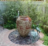 Garden And Lawn , Outside Water Feature Small Garden Ideas ...