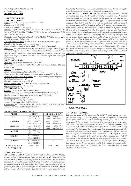 THP 48   ControlTec THP 48   ControlTec Manual Pinterest   Compliance  Manual Template