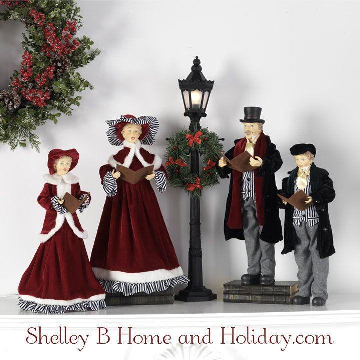 Christmas Caroler Figures set of 4 Caroler, Set of and Christmas - christmas carolers decorations