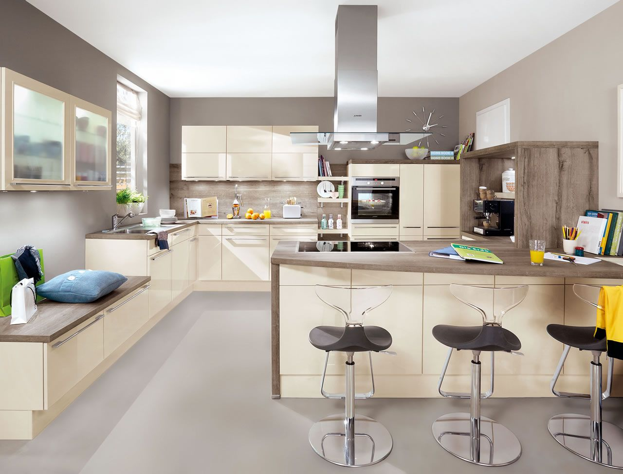 Nobilia Gloss Magnolia Hochglanz Flash 452 Ivory High Gloss Palazzo Kitchens And Appliances