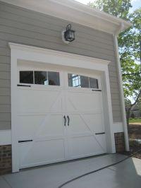 !!Add trim to garage door!!Add hardware to you boring ...
