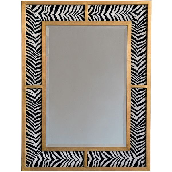 Bedford Gold Zebra Mirror (845 CHF) ❤ liked on Polyvore featuring - home decor mirrors