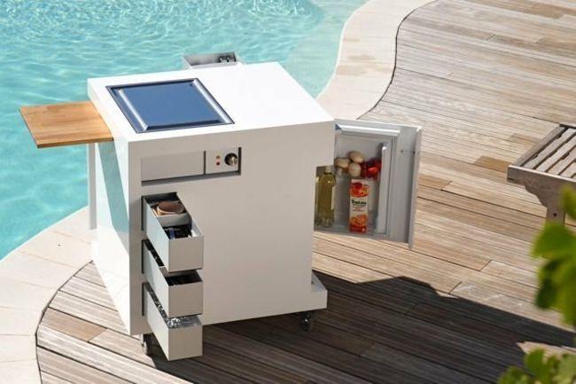 Move Küche Klein Kühlschrank Regale modernes Design - kompaktes minikueche design konzept