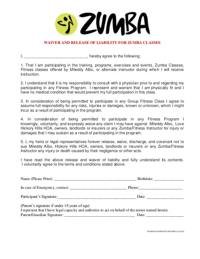 Printable Sample Release And Waiver Of Liability Agreement Form - sample print release form example