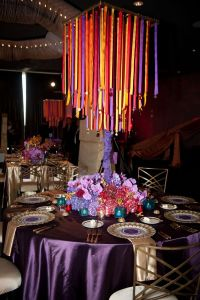 moroccan themed wedding table decor purple and gold with ...