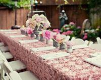 Satin Rosette wedding tablecloth, Cake tablecloth ...